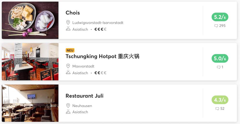 Philippinische Restaurants München