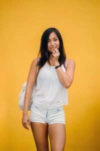 Young Philippine woman with nice face
