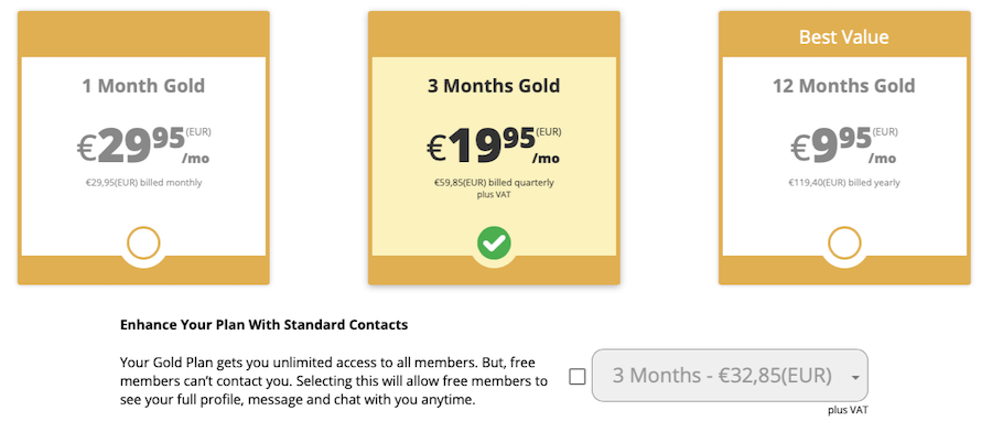 AdultFriendFinder Premium Preis